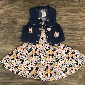 4t Mickey Mouse Dress with Vest